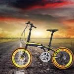 Folding Bike Mini 20in SHIMAN0 7 Mechanical Brakes
