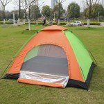 Camping Tent for 3-4 Persons Water-resistant Single Layer Outdoor Travel Portable